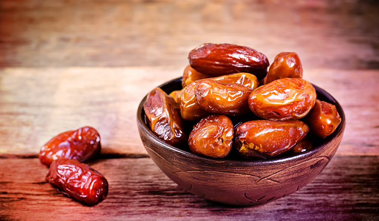 5 dates carry 1.1 mg iron