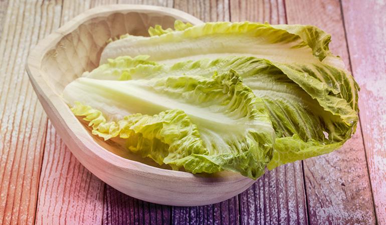 A cup of romaine lettuce has 2456 mcg of beta-carotene.