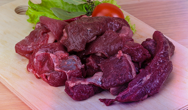 Deer meat is a good source of iron