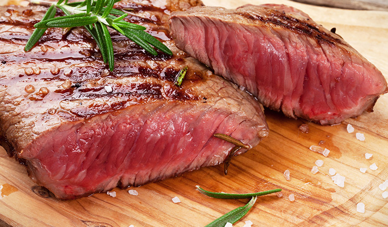 A 3 oz serving of flank steak, braised: 4.90 mg of zinc (44.5% DV)