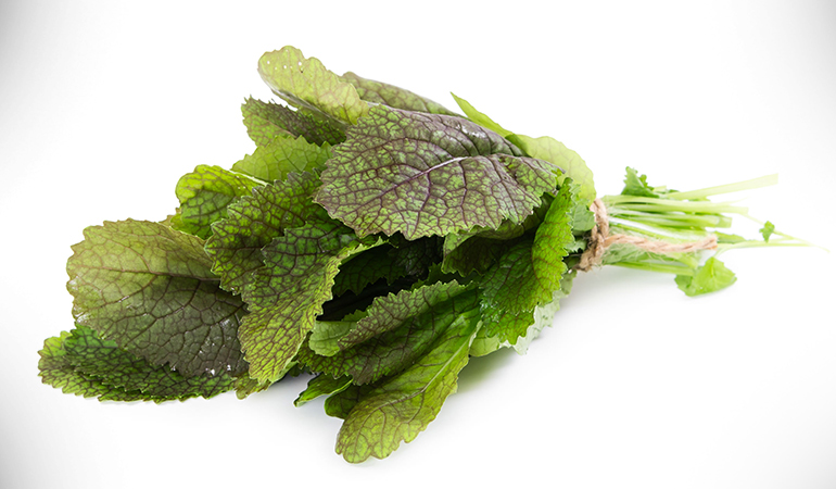 1 cup mustard greens, cooked: 165 mg of calcium (12.6% DV)