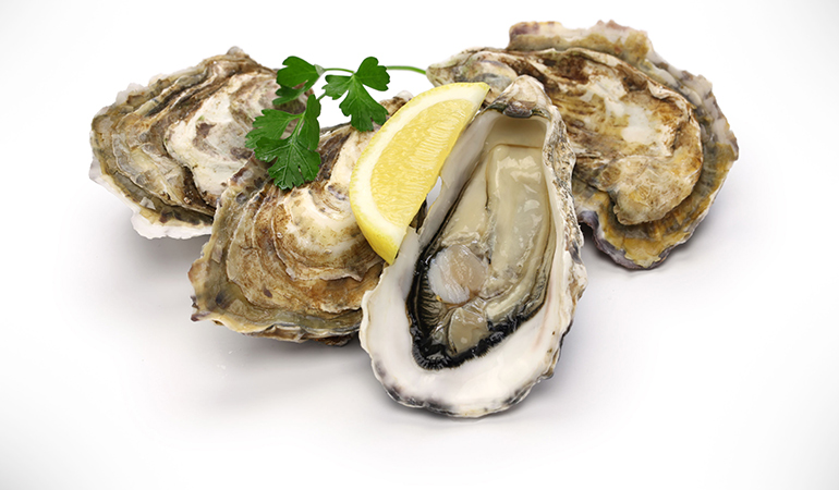 3 oz of oysters, cooked in moist heat: 28.25 mg of zinc (257% DV)