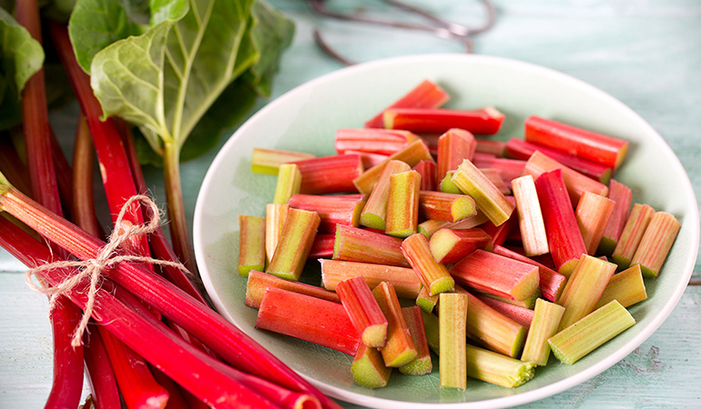 One cup of cooked rhubarb will give you a whopping 348 mg of calcium.