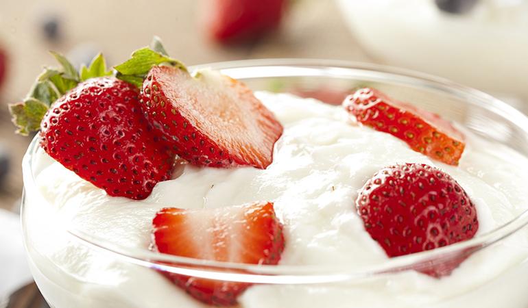 8 oz pack of plain yogurt: 1.34 mg of zinc (12.7% DV)