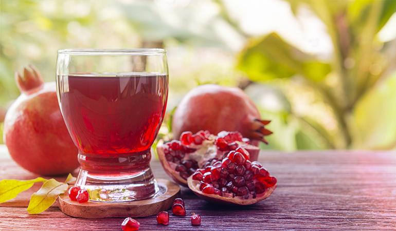 Three-quarter cup of pomegranate juice has 19 mcg.