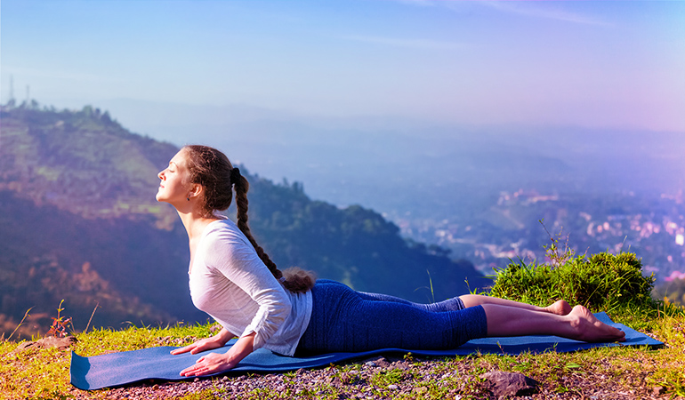 The cobra pose relieves gas.