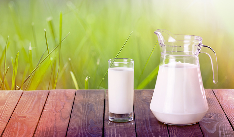 A cup of fortified, reduced-fat milk has 2.9 mcg of vitamin D.