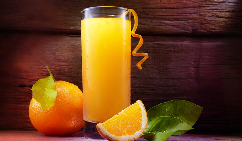 A cup of fortified orange juice has 2.5 mcg of vitamin D.