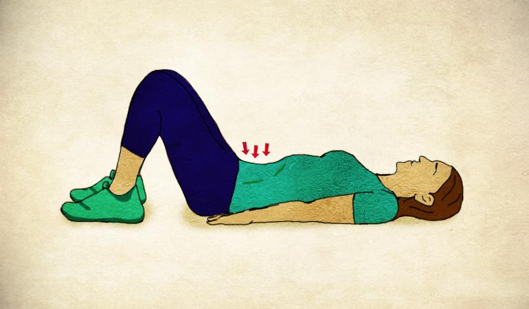 The tummy tuck exercise eases diastasis recti.