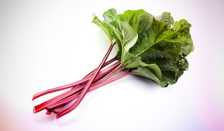 A cup of cooked rhubarb: 348 mg of calcium (26.7% DV)A cup of cooked rhubarb: 348 mg of calcium (26.7% DV)