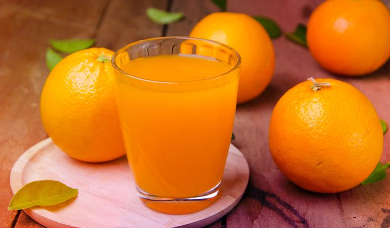 6 ounces of fortified orange juice: 261 mg (20.1% DV)