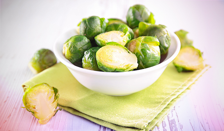 1 cup of Brussels sprouts: 96.8 mg of vitamin C (107.6% DV)