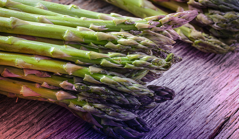 A cup of cooked boiled asparagus: 2.7 mg of vitamin E (18% DV)