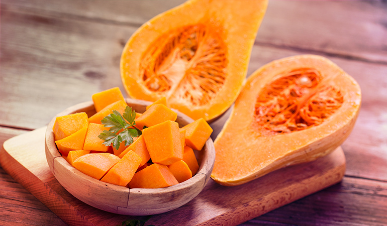A cup of cooked squash: 2.64 mg of vitamin E (17.6% DV)