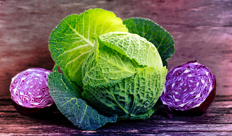 1 cup of regular cabbage: 56.2 mg of vitamin C (62.4% DV)