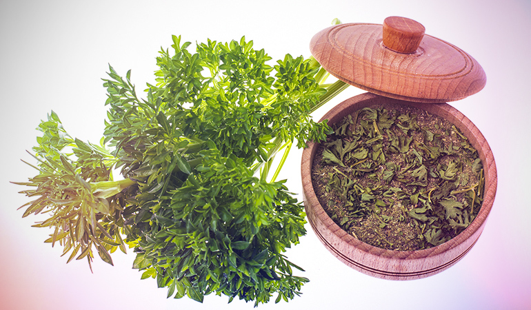 Parsley comes with 1,800 ng/g dry weight of vanadium.