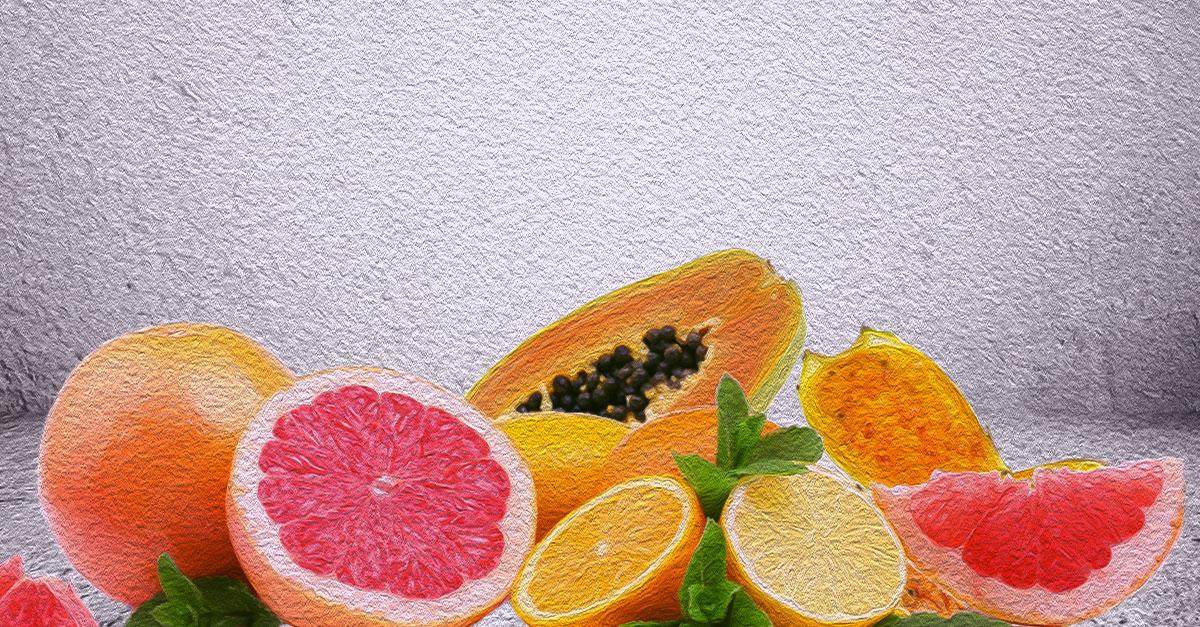 Fruits high in calcium.