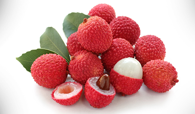1 cup of litchis: 135.8 mg of vitamin C(150.9% DV)