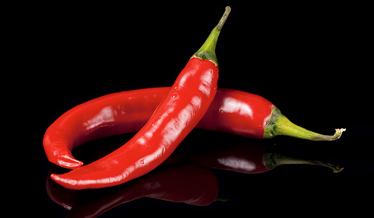 A cup of sweet red peppers has 2.35 mg of vitamin E (15.7% DV).
