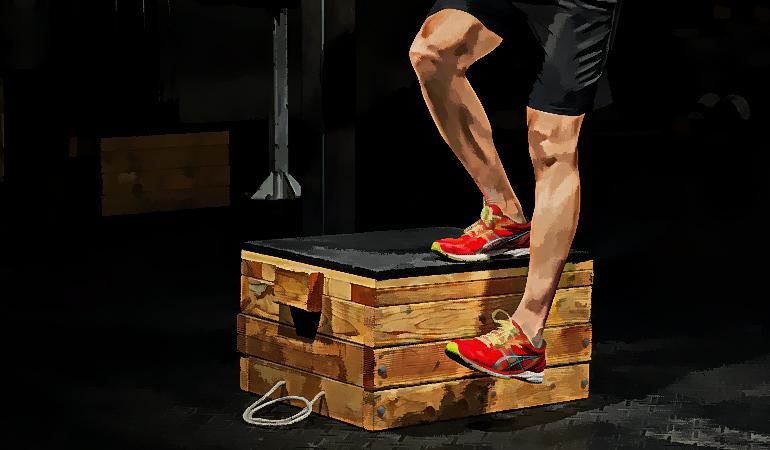 Single leg box squats engage your leg muscles.