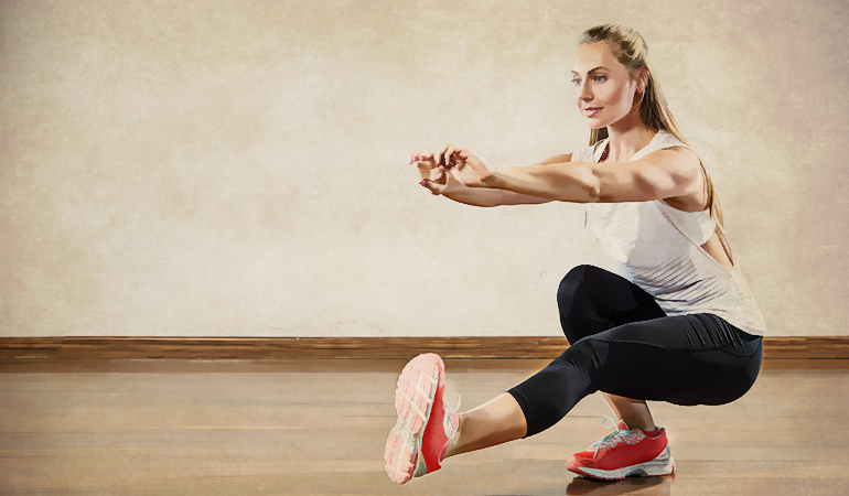 Single leg squats tone and strengthen leg muscles.
