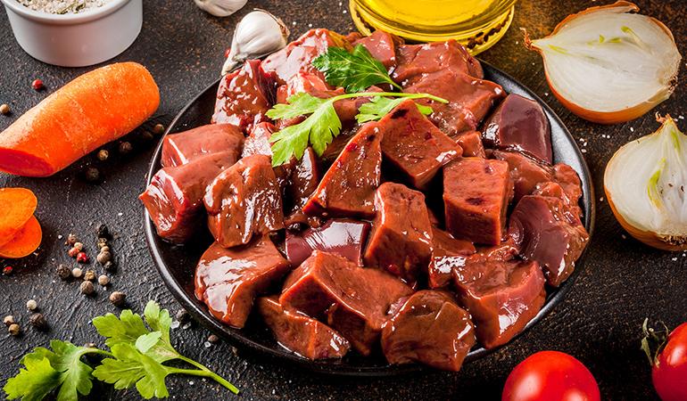 3 ounces of braised beef liver contains 8014 mcg of retinol.