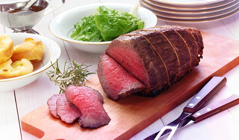 A 3 oz serving of grilled beef tenderloin: 4.77 mg vitamin B3 (29.8% DV).