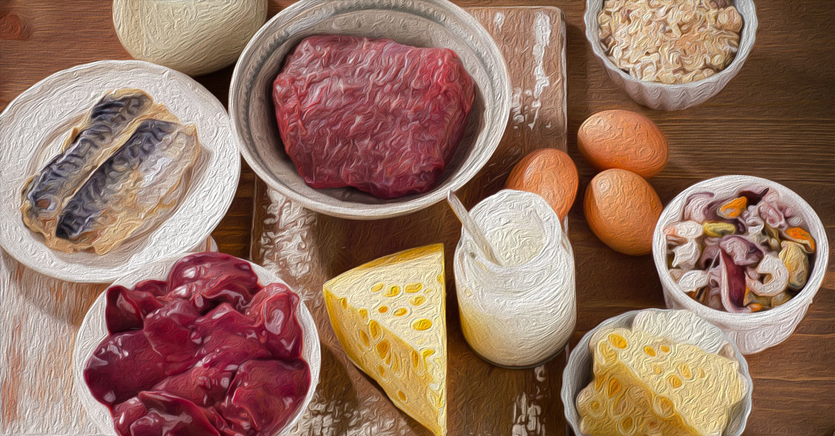 Foods high in retinol include organ meat like liver and kidneys.