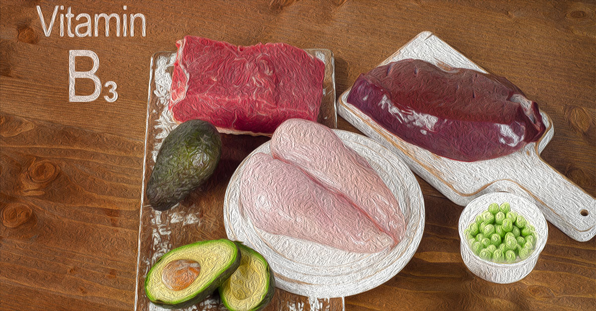 Foods rich in vitamin B3 include tuna, beef ad lamb liver, and mushrooms.
