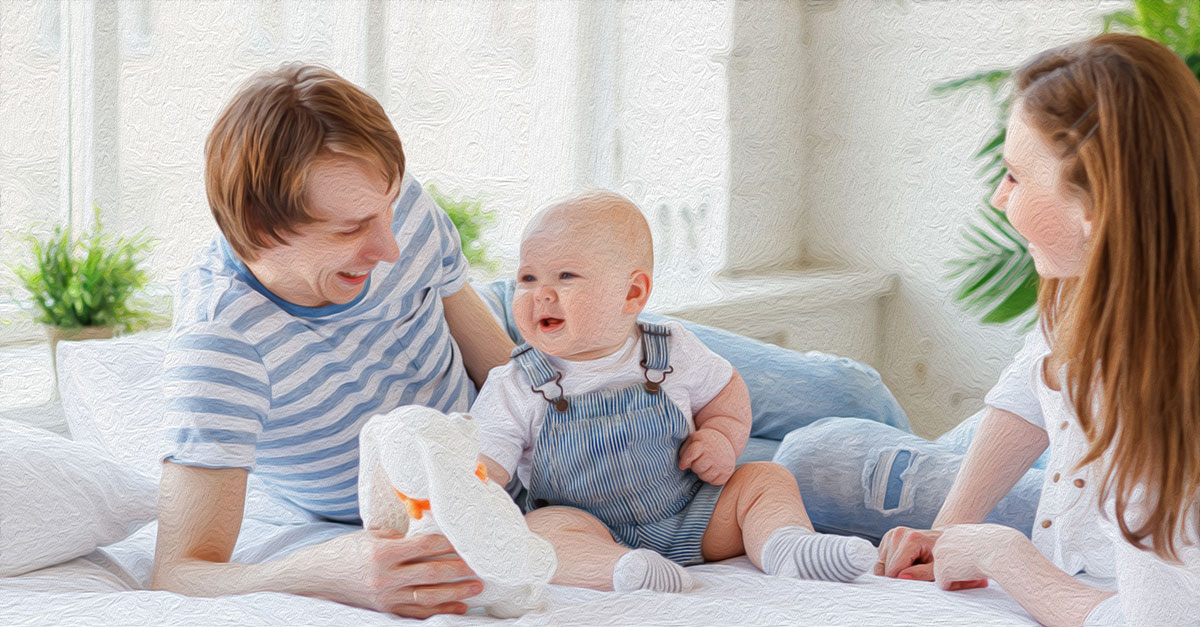 To bond with your baby, cuddle them a lot, talk to them, and take care of their daily needs.