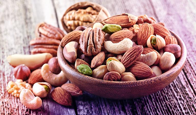 An ounce of walnuts has 10.8 gm of omega 6 fatty acids.