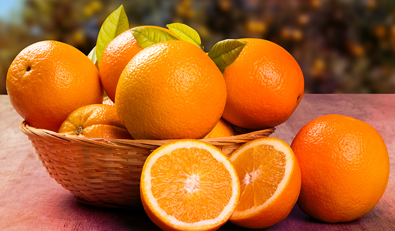 A cup of orange sections has an estimated 0.45 mg of boron.