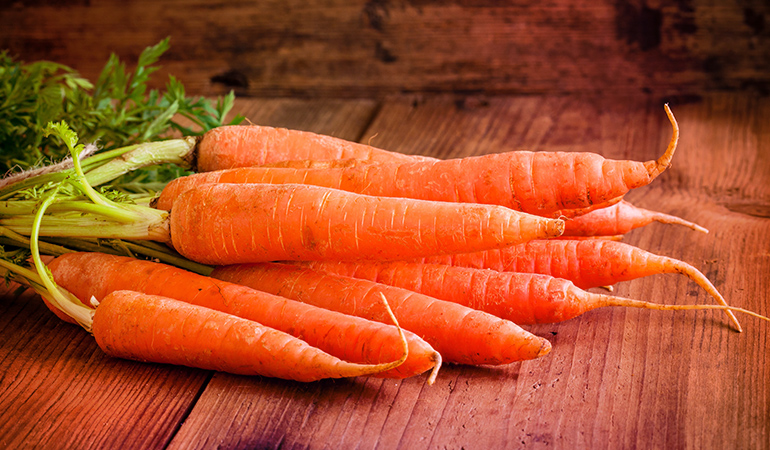 A cup of chopped raw carrots has around 0.39 mg of boron.