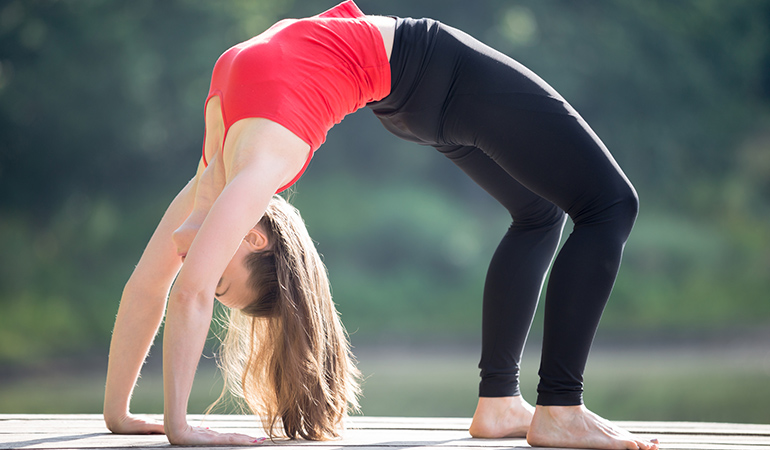 The bridge pose relieves anxiety.